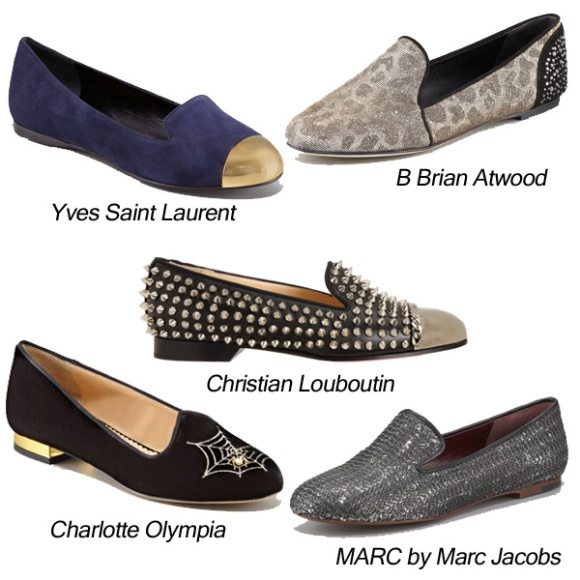 YvesSaintLaurent_ChristianLouboutin_MarcbyMarcJacobs_CharlotteOlympia_BrianAtwood_SmokingSlippers_Flat_Loafer_Glitter_Cap-Toe_Embroidered_Sequin_Metallic_Leopard